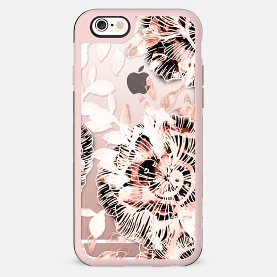 Pink watercolor flowers clear - New Standard Case