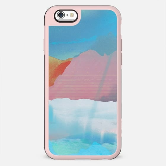 Minimal blue mountain landscape and clouds - New Standard Case