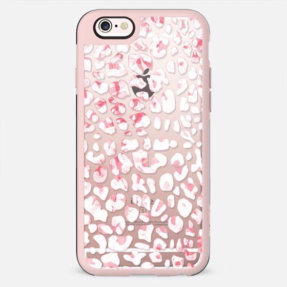 White pink animal print leopard