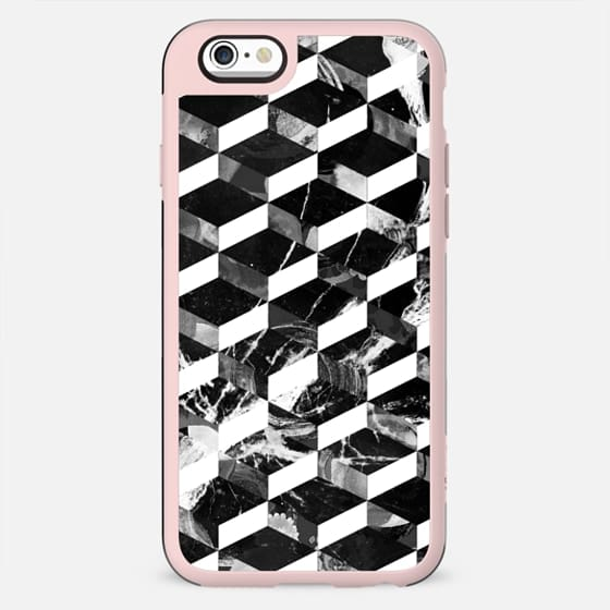 3D black and white marble pattern - New Standard Case