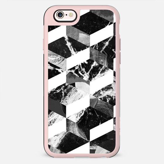 Geometric monochrome marble composition - New Standard Case