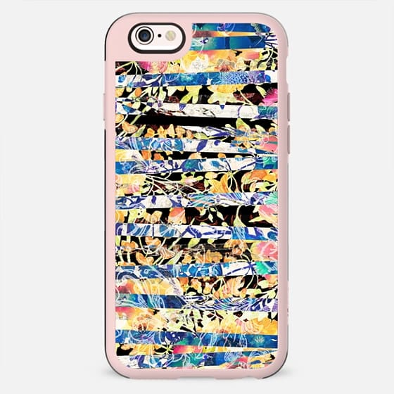 Watercolor painted floral stripes - New Standard Case
