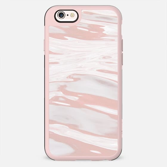 Dusty pink liquid marble waves