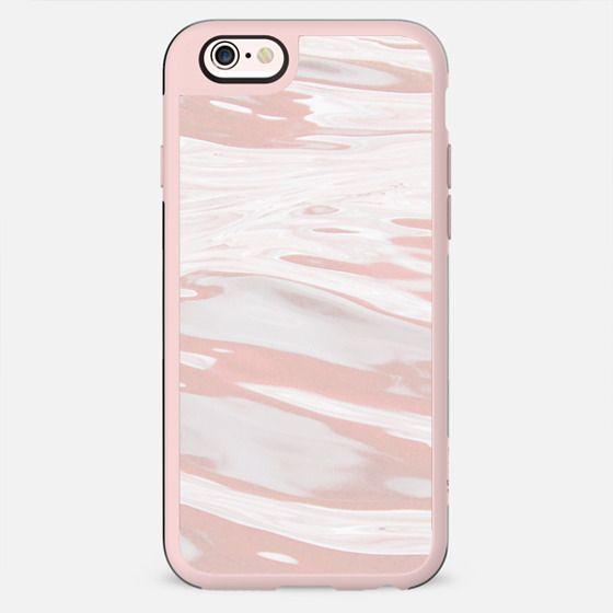Dusty pink liquid marble waves