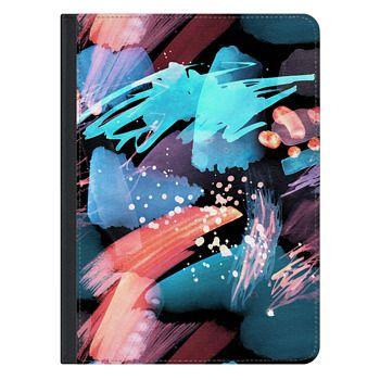 iPad Pro 12.9-inch Case - Blue orange paint splatter