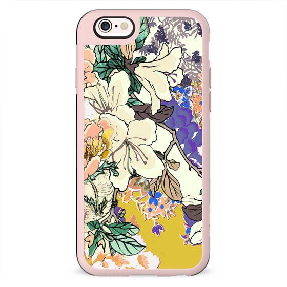 Brigh coloured flowers botanical illustration 1