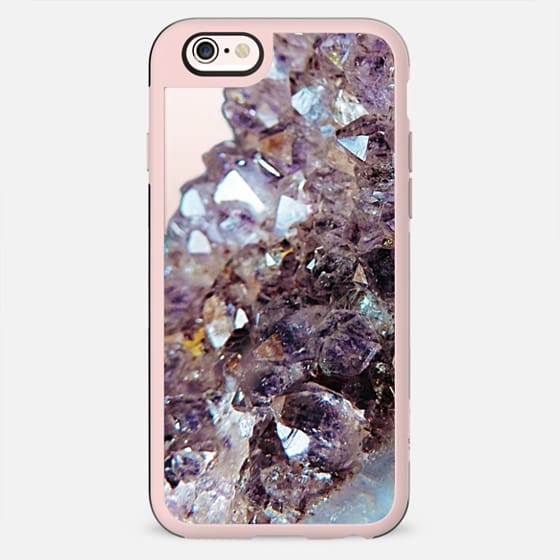 Pastel pink crystal amethyst transparent