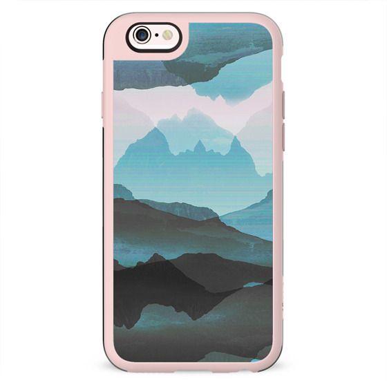 Pastel blue mountain landscape II