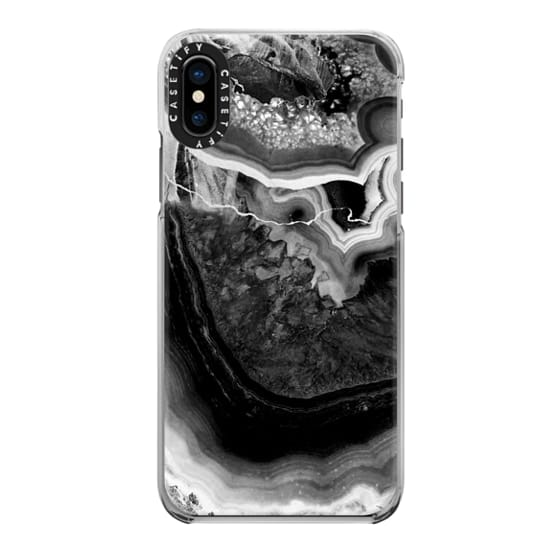 iPhone 6s Cases - Black and white cut agate marble