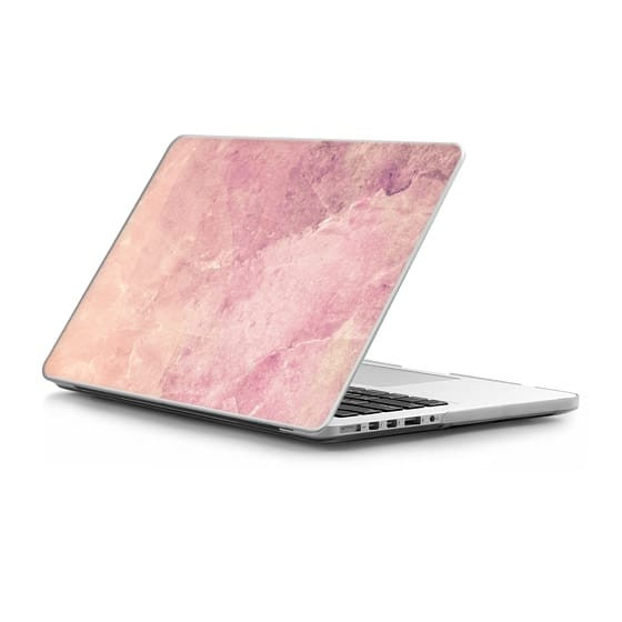 MacBook Pro Retina 15 Sleeves - Peach pink marble