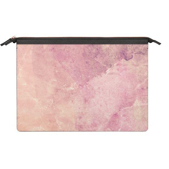 MacBook 12 Sleeves - Peach pink marble