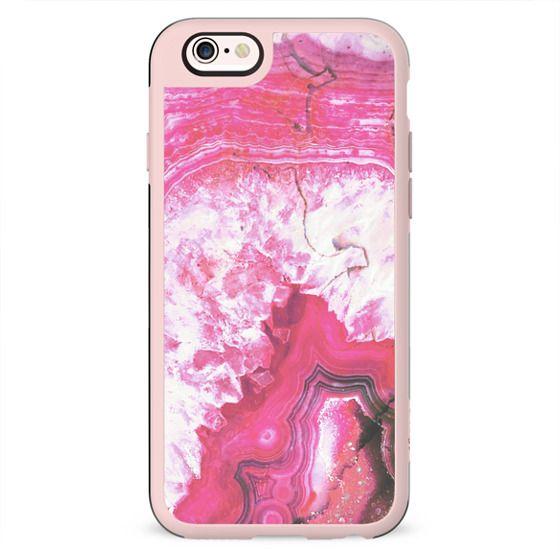 Pink precious agate gem