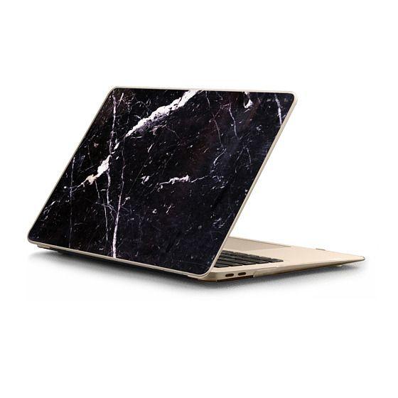 MacBook Air Retina 13 Sleeves - Cracked black marble elegant texture