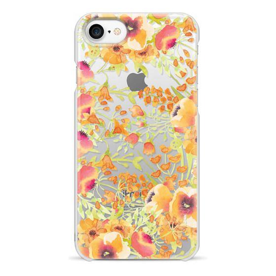 iPhone 6s Cases - Orange watercolor flowers painting