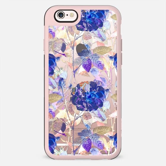 Purple blue painted roses - New Standard Case
