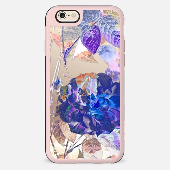 X-ray blue purple rose and leaves - New Standard Case