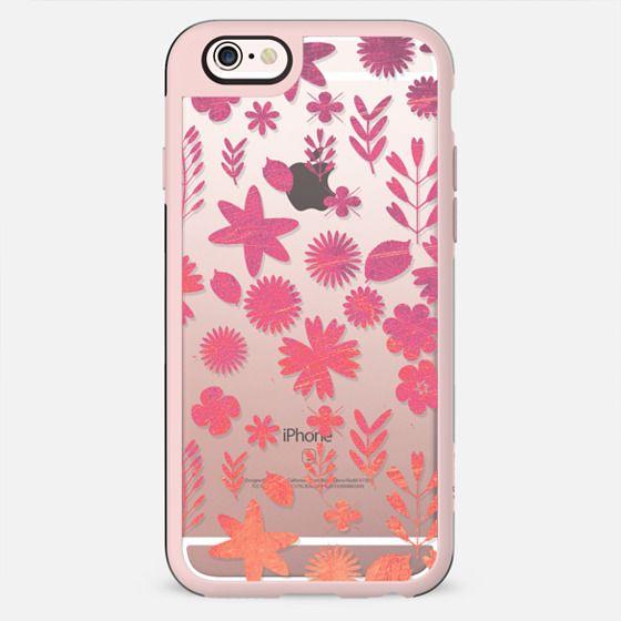 metallic flowers pattern clear - New Standard Case