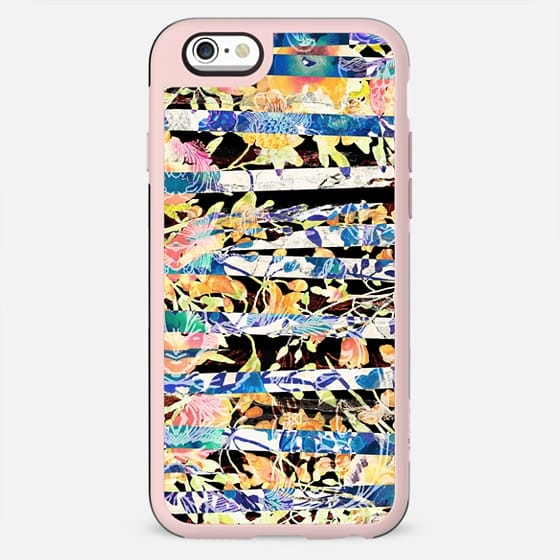 Stylised painting - floral stripes - New Standard Case