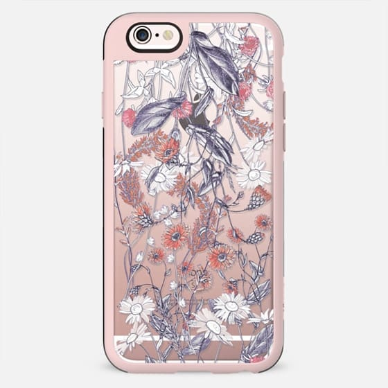 Desaturated botanical flowers meadow - New Standard Case