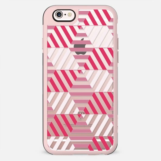 Fuchsia - white stripes - New Standard Case