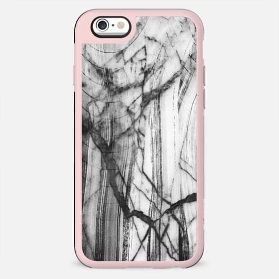 Cracked brushed white marble - New Standard Case