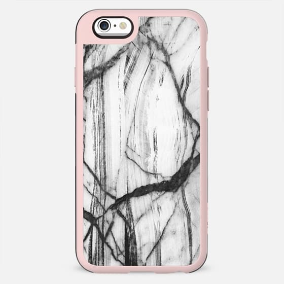 Brushed black and white marble cracks - New Standard Case