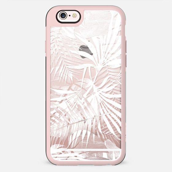 White transparent tropical foliage - New Standard Case