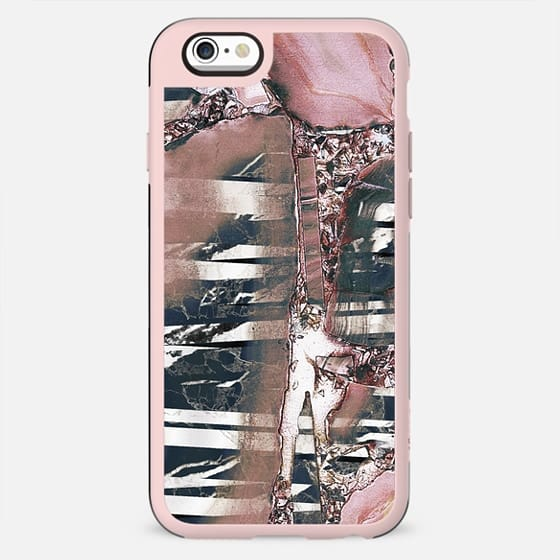 Pink faded marble and metallic gems - New Standard Case