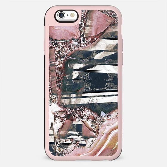 Pink faded marble and metallic precious stones - New Standard Case