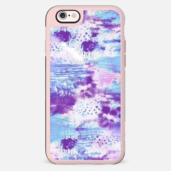 purple blue sprayed graffitti sketch - New Standard Case