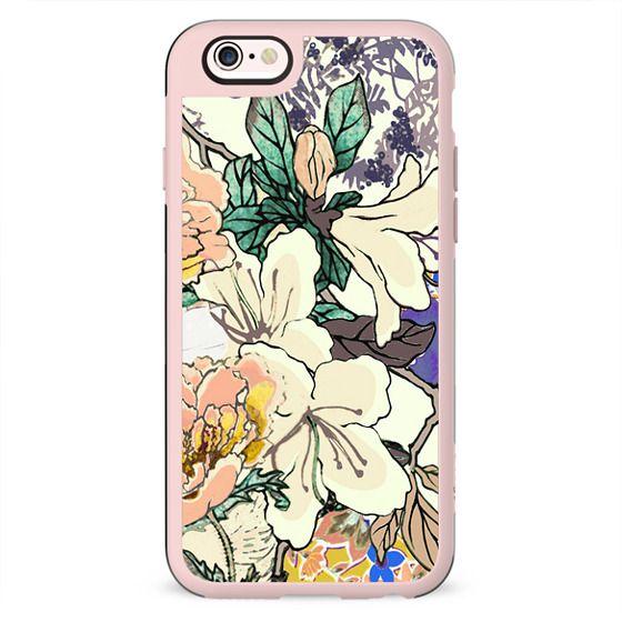 Brigh coloured flowers botanical illustration 2