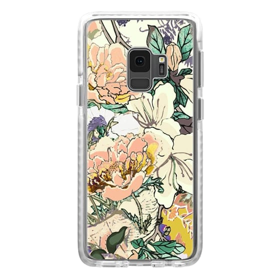 iPhone 6s Cases - Brigh coloured flowers botanical line art