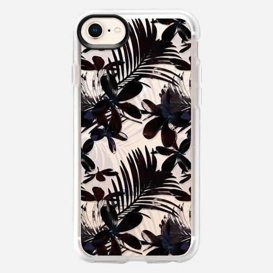 Black Tropical Flowers - Snap Case