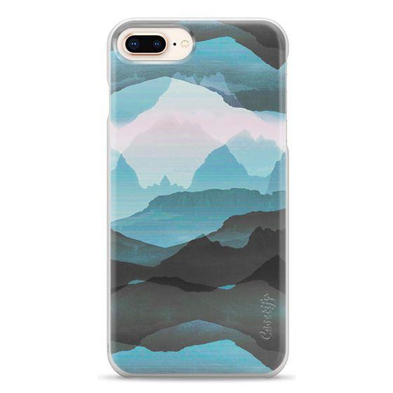 iPhone 6s Cases - Pastel blue mountain landscape