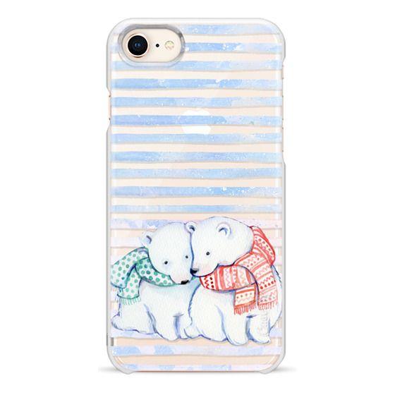 iPhone 6s Cases - Cute cuddling polar bears - winter clear case