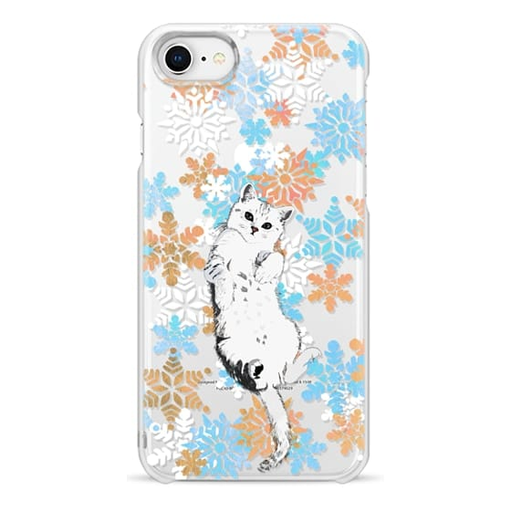 iPhone 6s Cases - White cat and painted snowflakes