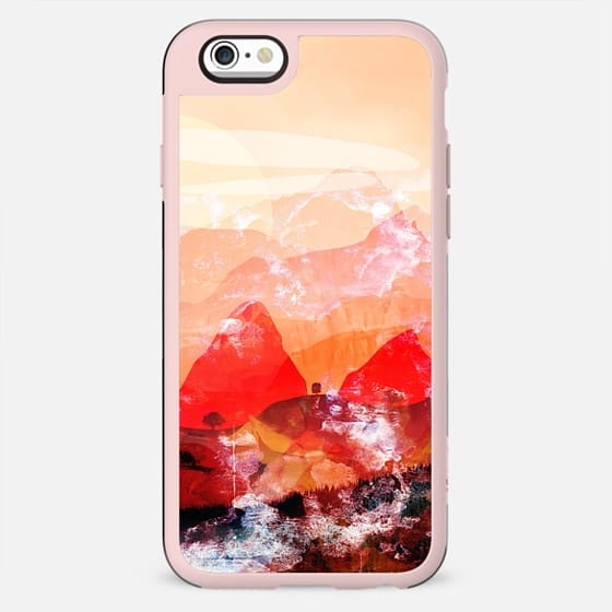 Peach sunset landscape