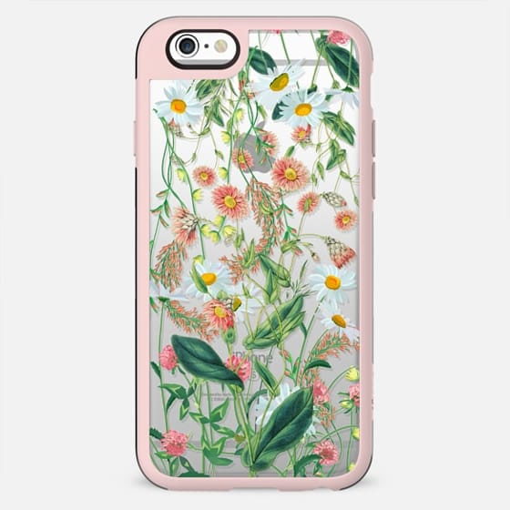 Transparent wild flowers meadow - New Standard Case