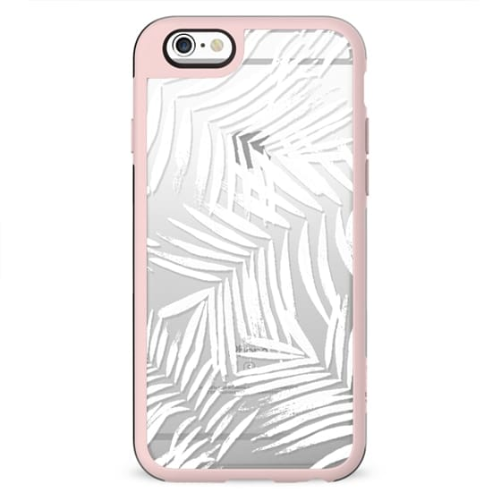 brushed palm leaves lines clear case