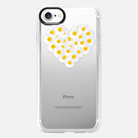 DAISY HEART Crystal Clear iPhone Case -