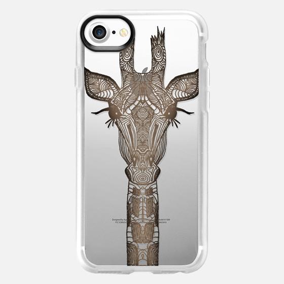 REAL WOOD GIRAFFE  iphonecase - Wallet Case