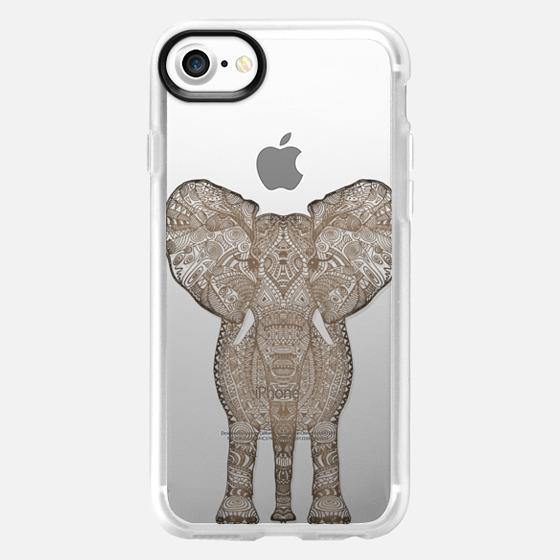 WOOD ELEPHANT iphone case - Wallet Case