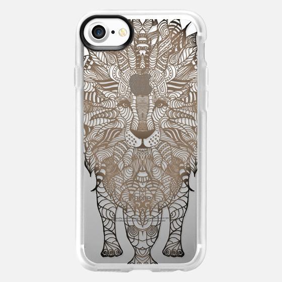 WOOD LION iphone case - Wallet Case