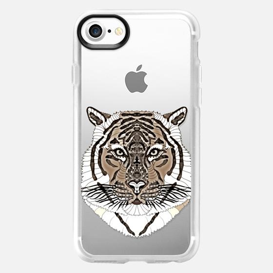 WOOD TIGER iphone case - Wallet Case