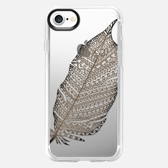 WOOD FEATHER iphone case - Wallet Case