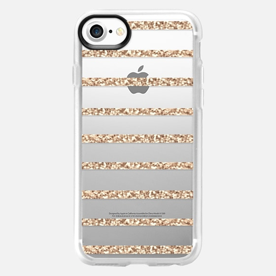 GATSBY GOLD GLITTER STRIPE PARTY Crystal Clear Transparent -