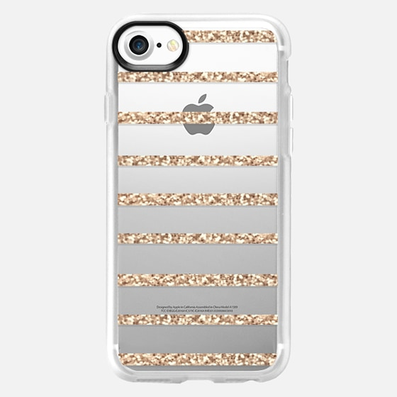 GOLD STRIPES transparent case for Samsung Galaxy S4 -