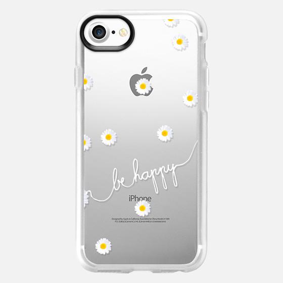 HAPPY DAISY iPhone6 TRANSPARENT CASE - Wallet Case
