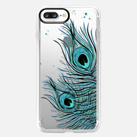 PEACOCK FEATHER iPhone 6 Crystal Clear Case -