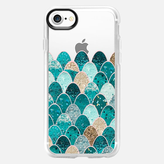 TIFFANY MERMAID SCALES transparent iPhone 5 case - Wallet Case
